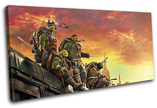 Bold Bloc Design - Ninja Turtles TMNT Poster Movie Greats 120x60cm SINGLE Leinwand Kunstdruck Box gerahmte Bild Wand hangen - handgefertigt In Grossbritannien - gerahmt und bereit zum Aufhangen - ()