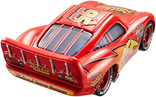 Image of Disney/Pixar Cars Movie Moments Lightning McQueen with Pit Stop Barrier Die-Cast Vehicle by Mattel