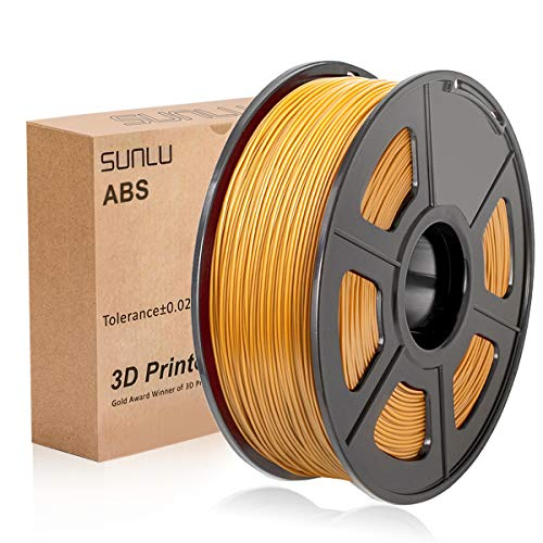 SUNLU 3D Printer Filament ABS, 1.75mm ABS 3D Printer Filament, 3D Printing Filament ABS for 3D Printer, 1kg, Gold
