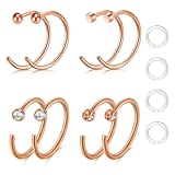 Best body jewelry Fake Diamonds - Zolure 20 Gauge Nose Hoop Rings Fake Nose Review