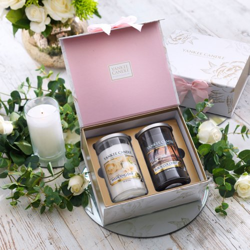 Yankee Candle Wedding Day 2 Medium Pillar Jar Gift Set