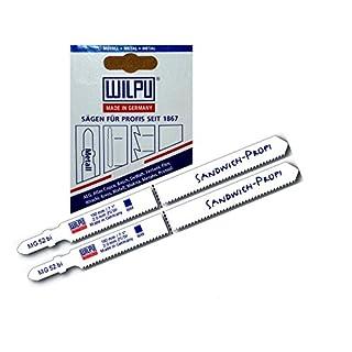 Sandwich Stichsägeblätter 2St MG52 >100 mm u. 130 mm = 180 mm extra lang für Stichsäge mit t-Schaft Aufnahme u Stichsägetisch 012P 012P