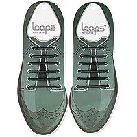 Loops Formal No Tie Laces Black