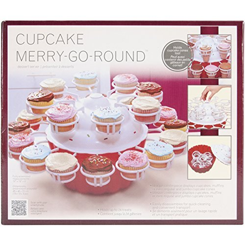 mrs-fields-cupcake-merry-go-round-serving-dish-red-white-by-mrs-fields