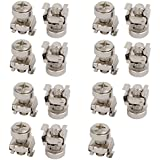 uxcell 15pcs M6 Cage Nuts w Mounting Screws Washers for Server Rack Cabinet