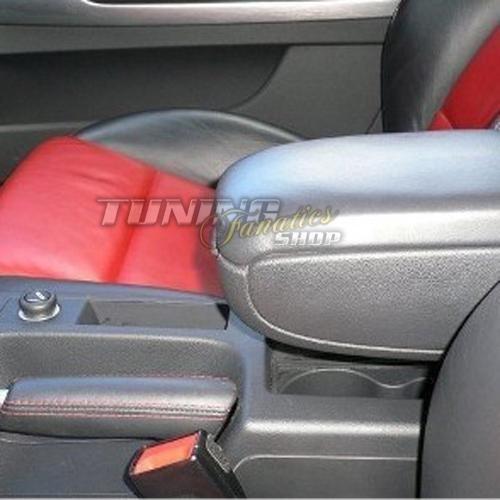 Mittel-konsole Leder Fahrzeugspezifisch Mittel-Armlehne mit klappbarem staufach Farbe: SCHWARZ // ROT Mittelarmlehne