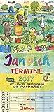 Janosch Familientermine 2017 - Familienkalender, 5 Spalten, Terminplaner, Kalender für Kinder, mit Stundenplan - 23 x 48 cm