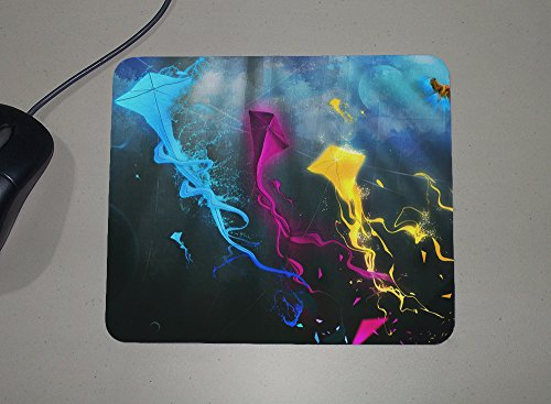 Colorful Kites - Abstract Art - Novelty Gift - Custom Name Mouse Pad