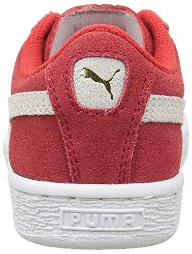 Puma 360757, Baskets Basses Garçon Rouge (High Risk Red/White)