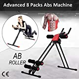 Ozoy 8 Pack Abs Exerciser/Six Pack Machine 20 Different Mode for Exercise and Fitness Without Cycle Trainer Abdominal Ab Vertical Waist Core Cruncher Equipment W/LED Counter six abs Exerciser