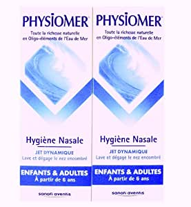 PHYSIOMER Brumisateur nasal - Jet dynamique micro diffusion - Lot de 2 x 135 ml