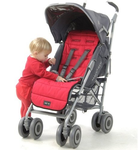 Outlook Cotton Pram Liner – Red.