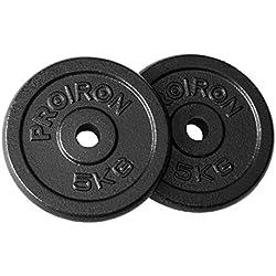 PROIRON Pesas de Disco Hierro Fundido Discos de Pesa para mancuerna musculación 4 x 1.25kg, 4 x 2.5 kg, 2 x 5kg, 2 x 10kg