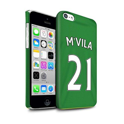 Offiziell Sunderland AFC Hülle / Matte Snap-On Case für Apple iPhone 5C / Pack 24pcs Muster / SAFC Trikot Away 15/16 Kollektion M'Vila