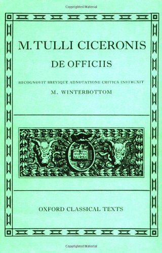 De Officiis (Oxford Classical Texts)