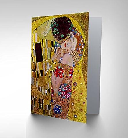GUSTAV KLIMT THE KISS OLD MASTER BIRTHDAY BLANK GREETINGS CARD