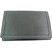 The Leather Emporium - calidad de mano de lino para hombre joven para mujer deporte Cartera para tarjetas y cierre de velcro