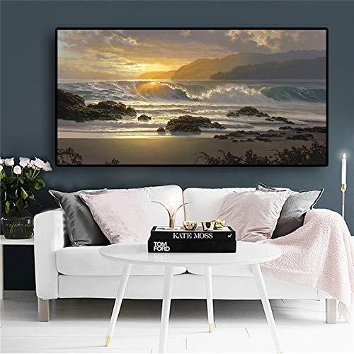 Nimcg quadro dipinto e stampa ritratto femminile su tela quadri scandinavi foto del soggiorno (senza cornice) a3 30x60cm