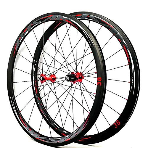 LYzpf Fahrrad Laufrad Bike Straße 700C Rad Vorne Hinten Set Felgen Disc Kohlefaser Zubehör Aus Aluminum Alloy