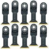 TopsTools UN44LT_10 44 mm lange Lebensdauer Titanium beschichtete Klingen für Bosch Fein (Nicht-StarLock) Makita Milwaukee Parkside Ryobi Worx Workzone Multifunktionswerkzeug Oszillierwerkzeug Zubehör