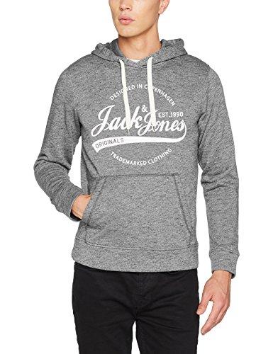 JACK & JONES Herren Kapuzenpullover Jorpanther Sweat Hood Noos Asphalt