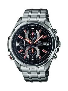 Casio - EFR-536D-1A4VEF - Edifice - Montre Homme - Quartz Analogique - Cadran Noir - Bracelet Acier Argent