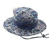 JYJMEinstellbare Cap Camouflage Boonie Hüte nepalesische Cap Army Herren Fischer Hut Camo Bergsteigen Angeln Camo Benni Hut Fischer Hut Basin Hat (A)