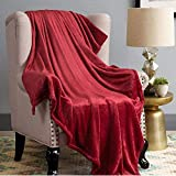 #10: Faux Mink Fur Double Bed Blankets - Super Soft Fluffy Warm Solid Bed Throws for Sofa, A/c Quilts - Luxury Microfiber Blanket 229x229cm by AKIN