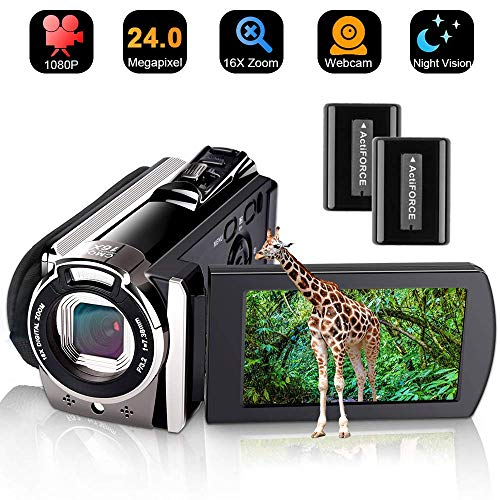 Video Camera Camcorder DIWUER Full HD 1080P Digital Camera Vlogging Camera  For YouTube 16X Digital Zoom 3 0