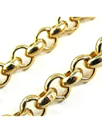 "tendenze-ITALY Belcher Chain Necklace 18k Gold Doublé, 8mm/0.315"", Length Choosable, Directly from The Italian Factory"