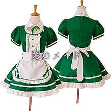 vestido de la criada de Cosplay del Anime japonés trajes restaurante Maid Verde S
