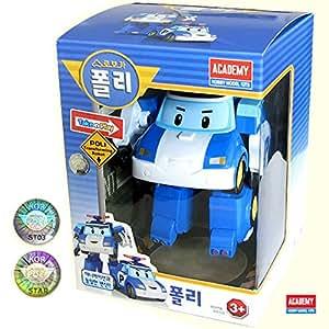 Transformer Robot Voiture de Police Bleue Robocar Poli Poli Jouet pour Enfants