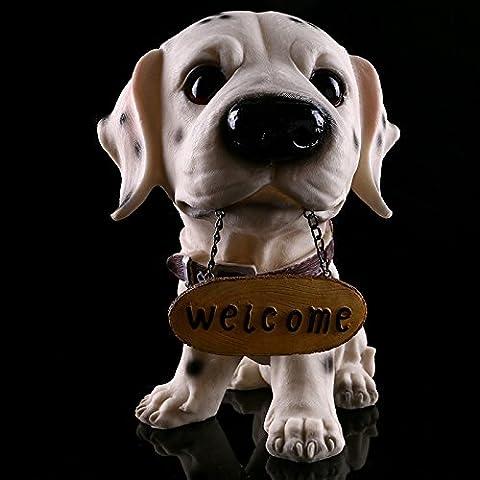 LQK-Dalmatinischen Innenministerium eingerichtet Schmuck handgefertigt Harz Hund Handwerk , skeleton head -160