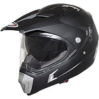 Casco moto cross SHIRO MX-TOURISM 311, color negro mate