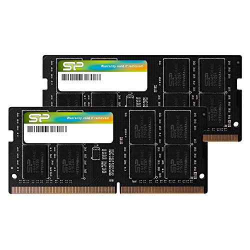 Silicon Power Laptop-Speicher (32 GB, 16 GB x 2) DDR4 2666 MHz, 260-Pin, CL19, 1,2 V, SODIMM, kompatibel mit Intel Skylake-X Plattformen/Kaby Lake-X CPU Series Motherboards -