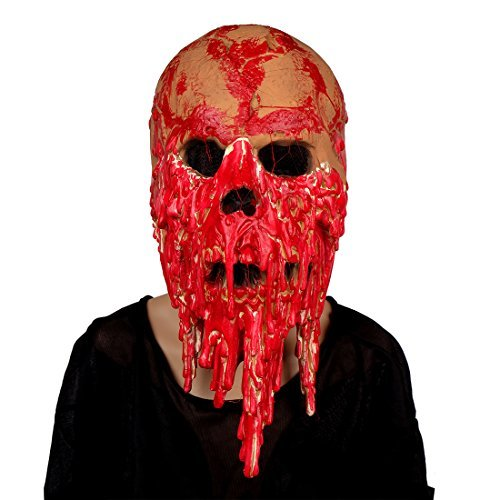 MISHIN mischin Halloween Horror Latex Bloody Full Head Zombie Maske Haunted House Film Requisiten