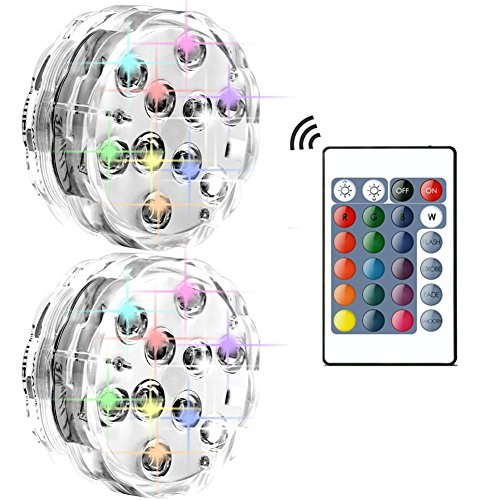 Bello Luna 2PACK Tauch LED Lichter, wasserdichte Party Lichter für Unterwasser Aquarium Teich Party Hochzeit Halloween Weihnachten Urlaub - Luna Bella Halloween