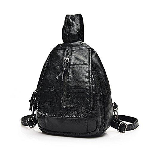 Meoaeo Nuova Moda In Pelle Di Piacere Chest Pack Zaino Stile Zipper Due Style two