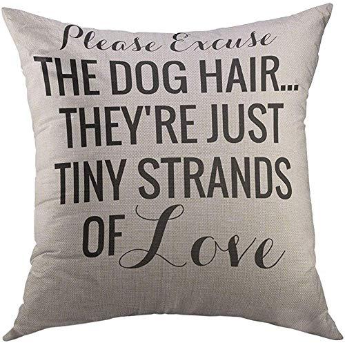 Duang Fodere per Cuscini Nero Divertente Pelo di Cane Tiny of Love Pet LOL Fodera per Cuscino Cuscino Decorativo per la casa Fodera per Cuscino Fodera per Cuscino 45X45 cm