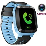 Turnmeon niños SmartWatch GPS, reloj inteligente, SIM llamadas, sos, toque colorido LCD, anti - Lost Smart tracker, Kids Watch Fitness tracker, monitor (Android y iOS app)