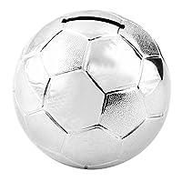 Football Design Silver Plated Money Box 8cm high  Box Contains 1 x Silver Plated Football Money Box