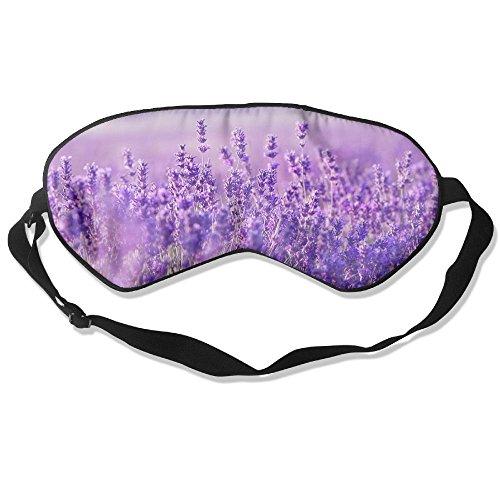 100% Silk Sleep Mask Eye Mask Purple Lavender Soft Eyeshade Blindfold With Adjustable Strap For Men Women And Kids For Sleeping Travel Work Naps Blocks Light