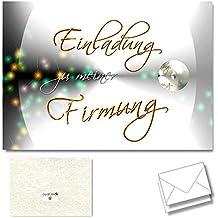 DigitalOase 2 Einladungskarten Zur Firmung   Firmungskarten 2 Klappkarten  Incl. 2 Weiße Kuverts Format DIN