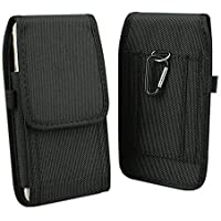 "Aubaddy Vertical Holster - Funda Cartuchera 5.5"", Carcasa Nailon Con Trabilla De Cinturón Para iPhone 7 Plus/8 Plus, Samsung Galaxy Note 5/S7 Edge, Huawei Mate /9/10/P20 Pro (Negro)"