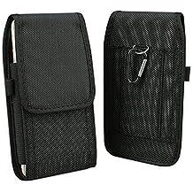 "Aubaddy Vertical Holster - Funda Cartuchera 5.5"", Carcasa Nailon Con Trabilla De Cinturón Para iPhone 6/6S/7/8 Plus, Samsung Galaxy Note /4/5/S6 Edge Plus/S7 Edge/S8 Plus, Huawei Mate 7/8/9/10 (Negro)"