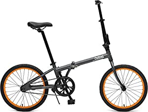 Critical Cycles Unisex's Judd Single-Speed Folding Bike with Coaster Brake, Matte Graphite, One Size
