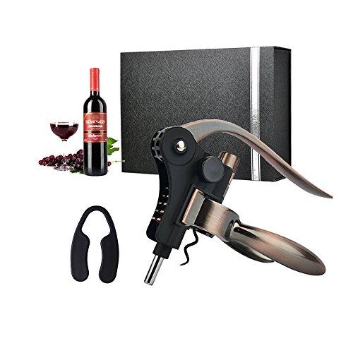 Flaschenöffner, BWORPPY Wein Flaschenöffner Set w / Folienschneider, Extra Spiral Spirale und Geschenkbox für Geburtstag, Jubiläum, Weihnachten, Hochzeit, Business