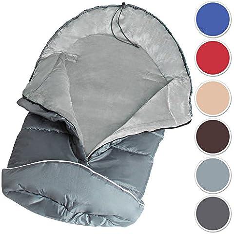 TecTake Saco de invierno dormir térmico para carrito silla de bebé universal abrigo polar - disponible en diferentes colores - (Gris | No.