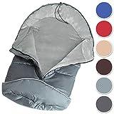 TecTake Saco de invierno dormir térmico para carrito silla de bebé universal abrigo polar - disponible en diferentes colores - (Gris | No. 400997)