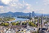Bonn City Skyline Design XXL Wandbild Kunstdruck Foto